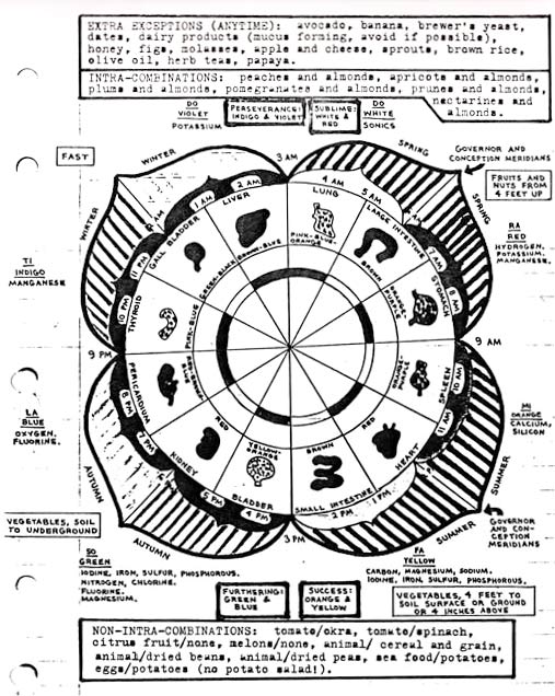 solar timing store charts Cancer Diagram 12 petal flower of life